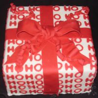 Ho Ho Ho!   Cake modeled after some rapping paper i saw.