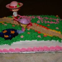 Strawberry Shortcake As with my Dora cake, I used a cake I had seen on here and added my own flair to it to give my 5th garders teacher's little girl a...