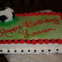 Soccer Cake  Made for a 9 yr old classmate of my son, I used mini sports ball pan to make a 3d ball. Unfortunately I had no pattern to go off of on the...