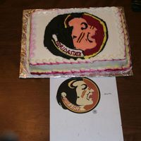 Florida State Seminoles Cake Florida State Seminole cake. This was extremely hard for me. I am not skilled at drawing or any such thing but a friend asked for this cake...