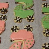 Baby Carriages Sugar cookies with Alices icing.