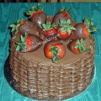 Chocolate Basket Of Strawberries
