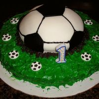 1St Birthday Soccer Cake For my nephew, made it with my sister!