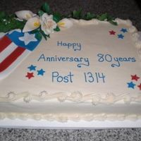 Anniversary Cake For A Local Vfw Post My first draped flag cake, need work on my draping but i was happy with the cake.