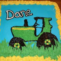 Tractor Birthday cake inspired by Vicki614 ..