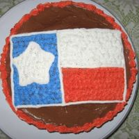 Texas Flag Cake Firstly, I know this isnt 3-D but no other category fit! Secondly, I apologize for the sloppiness, this was done in a hurry (the cake was...