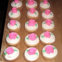 Rose Cupcakes Just some pretty little rose cupcakes for a party.