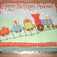 Train Cake Inspired by CC! This cake was for a two year old boy's birthday party.