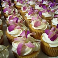 Close Up Of Orchid Cupcakes