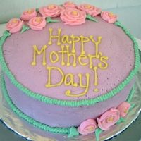 Mother's Day Just a simple mother's day cake for my family. I was happy with the roses.