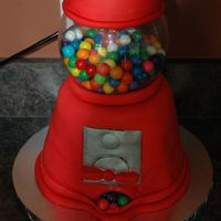 1St Gumball Machine Cake My first attempt at this cake. It was for my Daughter's birthday party. Not as difficult as I thought it would be. It's a four...