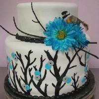 Bird Themed Wedding Cake