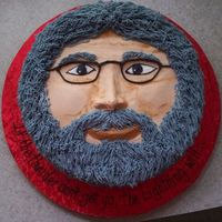 Jerry Lives! My attempt at Jerry Garcia for my nephew's birthday. All BC. He loved it.