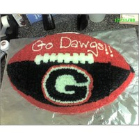 Uga Football cake for a friend during xmas (he asked for it as a gift). All buttercream icing.