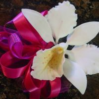 Gum Paste Orchid This is a gum paste orchid corsage.
