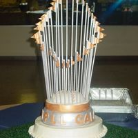 World Series Trophy Cake This cake was done for my DH coworker for a Baseball Gala Event.