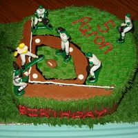 Play Ball! This is a cake I made for my nephew's 5th birthday. It is a three layer cake iced with chocolate and buttercream icings. I made the...