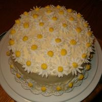 Coming Up Daisies This is a triple layer lemon cake with lemon curd filling and lemon creamcheese frosting and butter cream daisies. I made this for my...