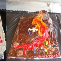 Starwars Scene For the 7th birthday of my Jedi, I baked various cakes that composed a Starwars scene: Jabba the Hut's palace featuring Jabba and his...