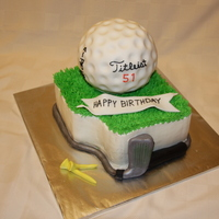 Titleist Pro V1 Cake This cake was done for the winner of a silent auction item at the United Way. The cake was a lemon sponge with lemon curd filling. I did...