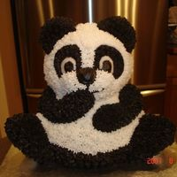 3D Panda Cake I did this for a friends daughters 1st birthday. She had tried to do it for her 3 year olds birthday but couldn't complete it. It was...