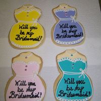 Bridesmaid Invitation Client ordered these cookies to invite her friends to become bridesmaids in her wedding.
