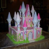Princess Castle Cake Bottom tier is Almond cake with cherry filling. Top tier is white cake with raspberry filling. Used the Wilton Castle set and although the...
