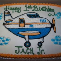 Soaring Into Your 1St Birthday Little boy loves airplanes so that's what he got on his birthday cake. White cake with bavarian cream and fresh strawberries for the...