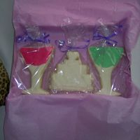 Bachelorette Party Cookies1 I made these sugar cookies for my best friend for her Bachelorette party. I had a martini theme so I used my martini cutter and also put in...