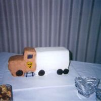 Tom's Truck I made this UPS truck for my best friends wedding as their groom'scake. I also had their five-tier wedding cake and two 1/2 sheet...