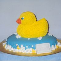 Baby Shower Duck Cake   This cake was for a Baby Shower (Boy). Everything was edible.