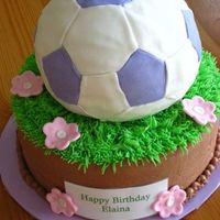 Girly Soccer Ball Cake