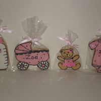 Pink And Black Baby Shower I made these cookies for a friend that loves the colors pink and black. I got the inspiration from this website. Thank You to all that post...