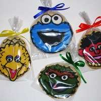 Sesame Street Characters Cookie I had so much fun doing these cookies. They are NFSC with Royal icing.