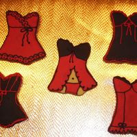 Red And Black Lingerie These are NFSC with royal icing. I have done these in the past but I love to do these.