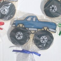 Monster Truck Cookie I did these cookies for a little boy's birthday party. They are NFSC with royal icing.