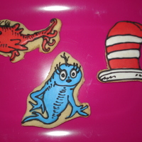 Dr. Seuss Hat, Red Fish, Blue Fish Did these for my friend's baby shower. They are NFSC with royal icing.