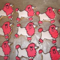 White And Pink Poodles I did these cookies for a friend's birthday party. They are NFSC with royal icing.
