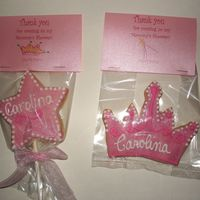 Baby Princess Shower These are NFSC with royal icing. I also decorated with luster dust.