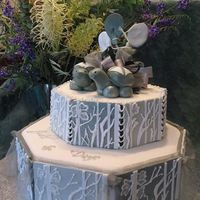 "Engagement Cake With Turtles My Niece and fiance are reptile and amphibian owners and I wanted to incorporate this into their cake. A very big thank you to ""dabear..."