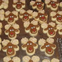 Reindeer Cookies  NFSC and Antonia's icing. I saw a few variations of these in the gallery yesterday and thought they would be perfect for the kids....