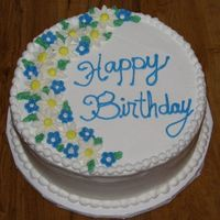 Amy's Daisy Birthday 9 inch buttercream with MMF flowers