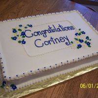 Cortney's Graduation buttercream with fondant flowers