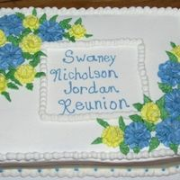 Snj Reunion Ignore the big bulge of icing. :D It tried to slide right off the cake.