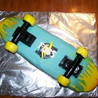 Skateboard Cake I made this for my son