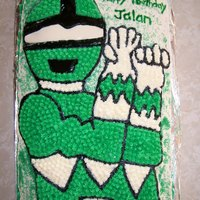 Green Power Ranger I made this for a lady's son