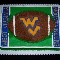 Wvu Football Grooms Cake This Grooms cake went along with the rubber ducky Wedding Cake. The groom's family was from West Virginia and it was a big hit at the...