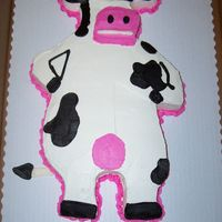 Otis The Cow From Barnyard I made this for my friend's niece. She love Otis the Cow, but callshim Odie. When they first asked for the cake I was thinkingOdie...