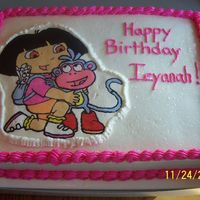 Dora Birthday Cake My first FBCT....I love them!