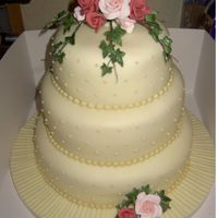 Rose Polka Dot Wedding Cake